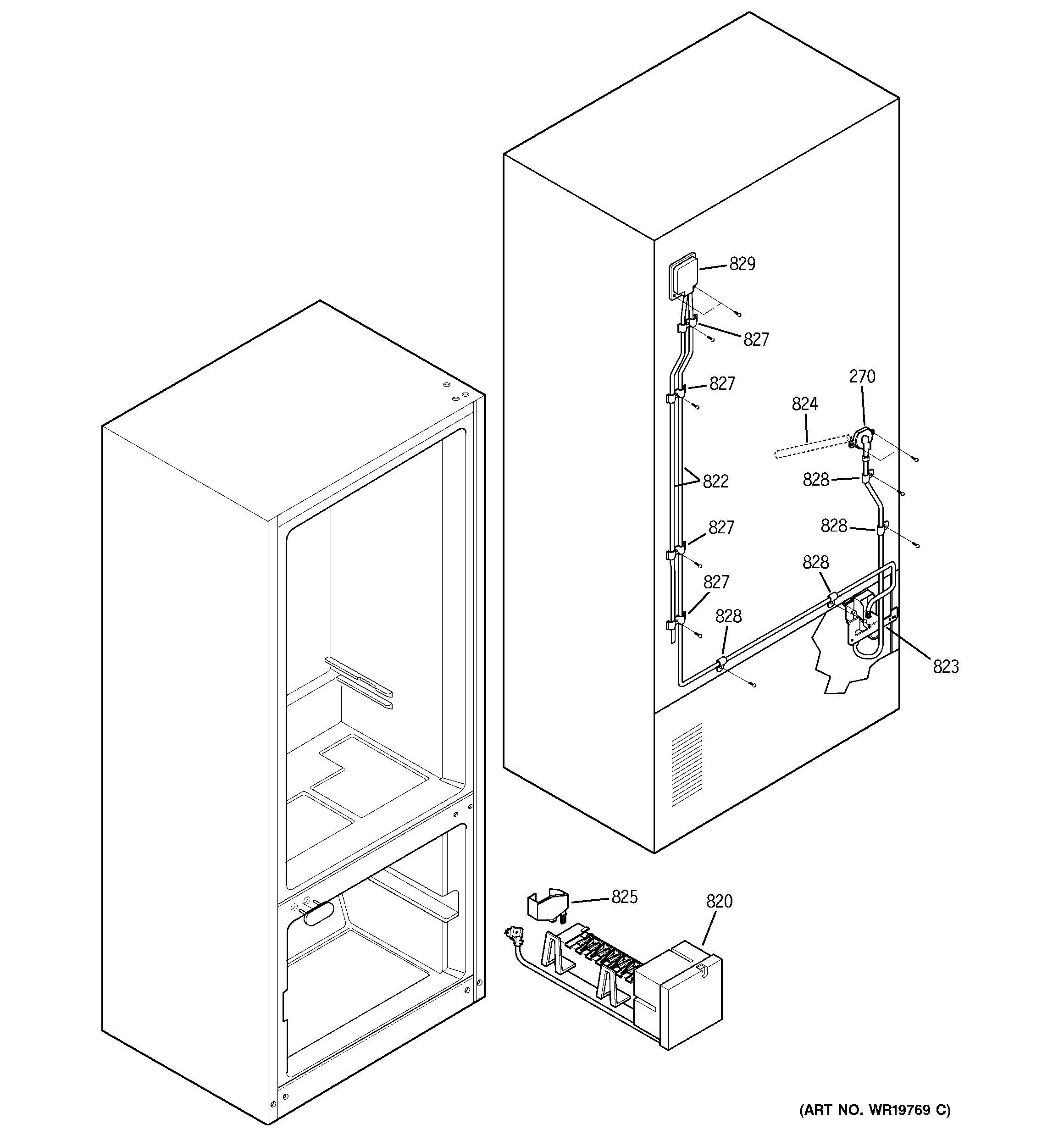 GE PDS20MCRAWW water system diagram