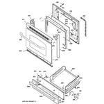 GE JGBS23WEL2WW door & drawer parts diagram