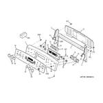 GE JB900BK5BB control panel diagram