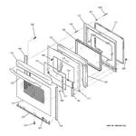 GE JCB909TK5WW door diagram