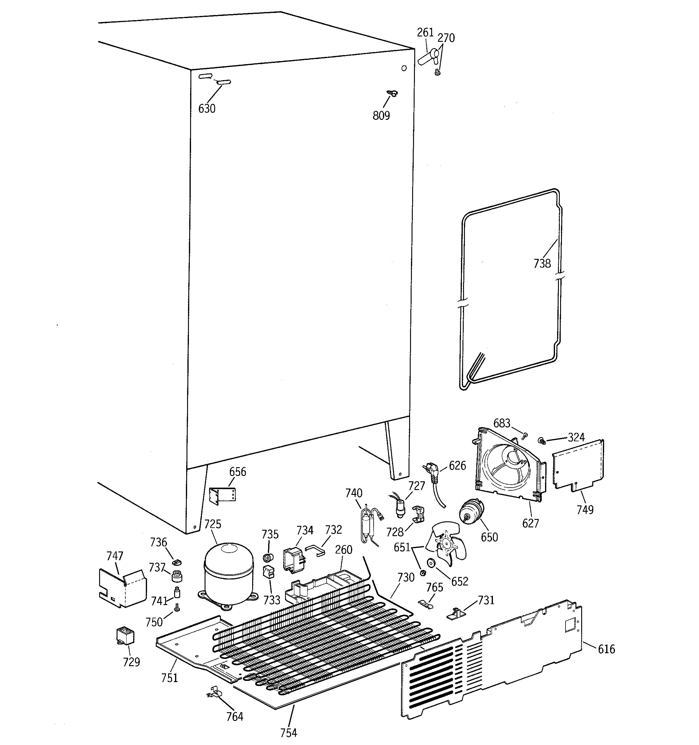 Hotpoint  Refrigerator B Series  Unit parts