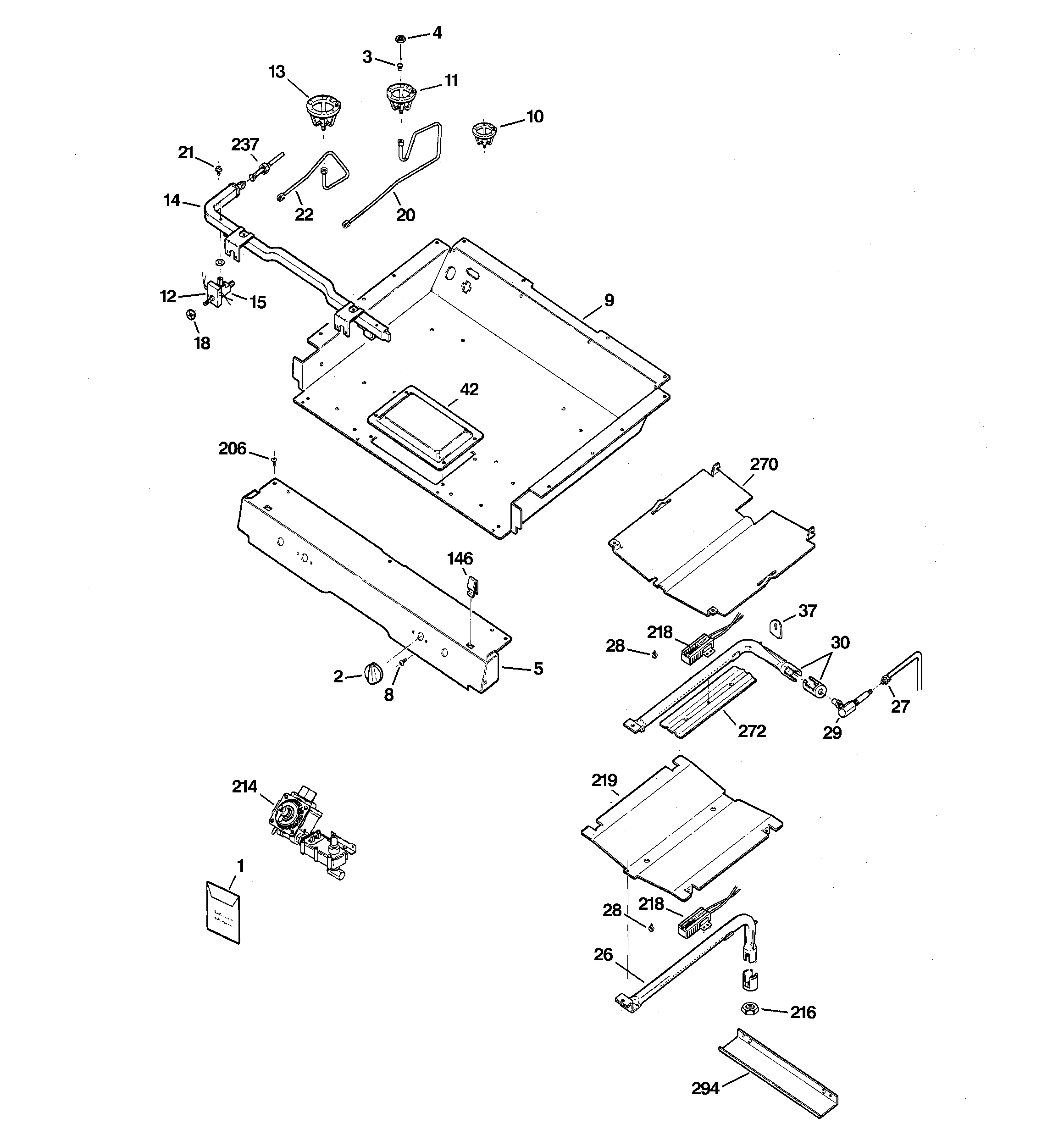 Hotpoint RGB745WEH4WW gas & burner parts diagram