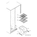 Hotpoint HSM25GFRESA freezer shelves diagram