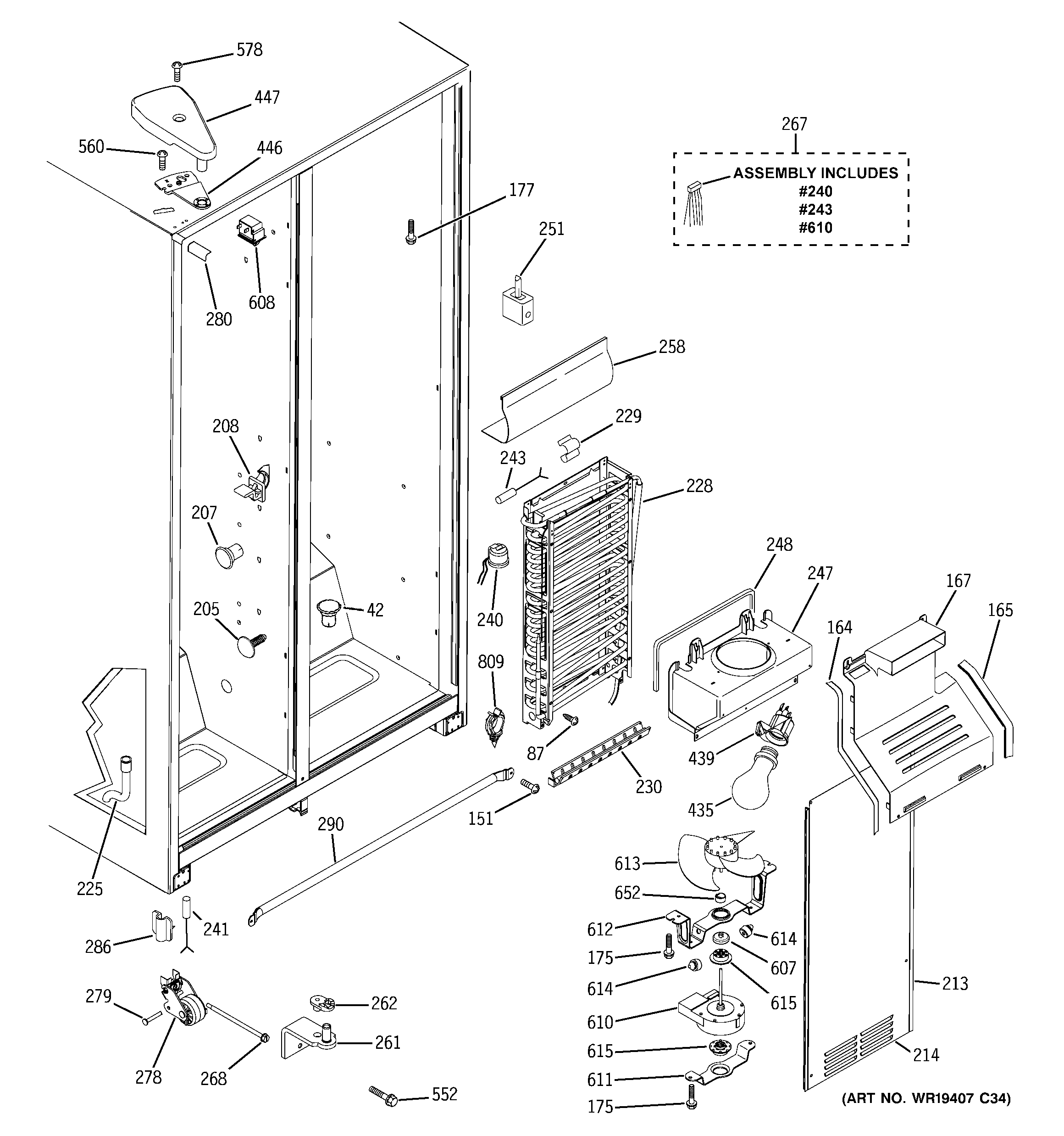 Hotpoint Side By Refrigerator Repair Manual Image