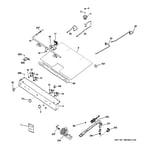 Hotpoint RGB530DEP2BB gas & burner parts diagram