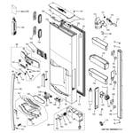 GE PFE29PSDASS dispenser door diagram
