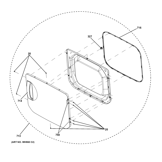 GE GTUP270GM1WW door assembly diagram