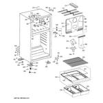 GE GTS18CBEMRBB cabinet diagram