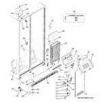 GE GSH25JSDBSS freezer section diagram