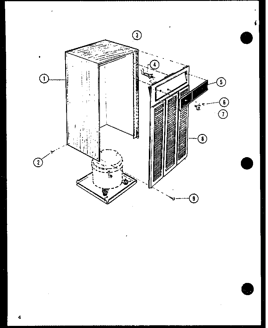 Amana DH30-P1161902R cabinet and front grille diagram