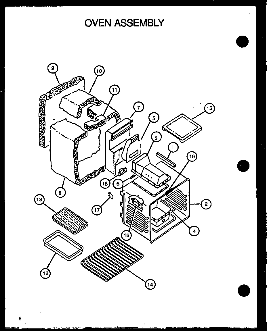 Caloric RST308UW-P1130723NW oven assembly diagram