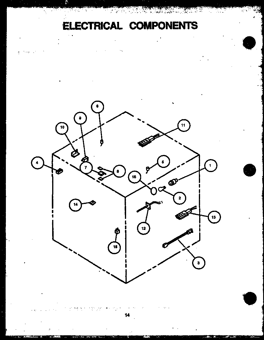 Amana AGS741W-P1155901S electrical components diagram