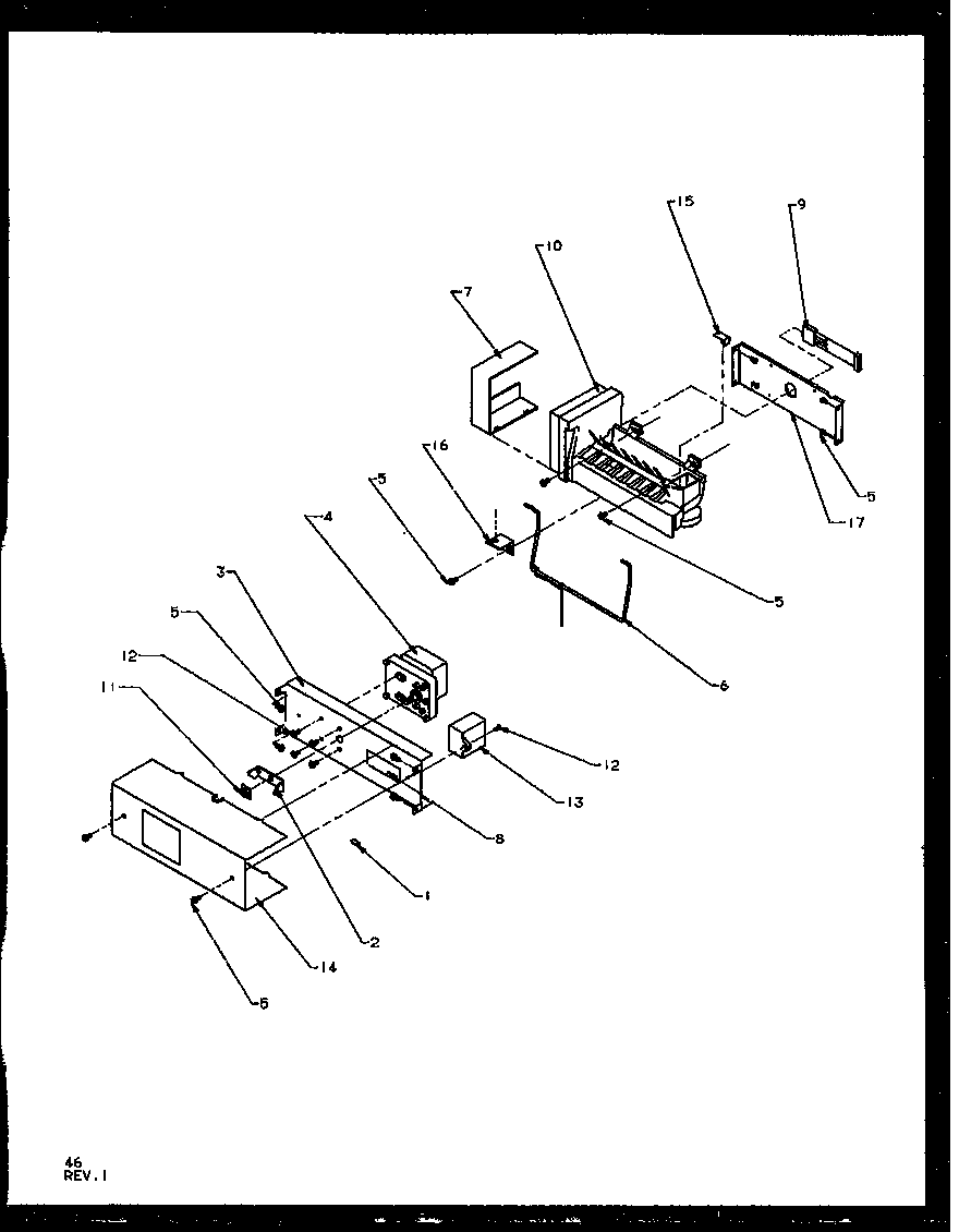 Amana SQD25NBL-P1162402WL ice maker diagram