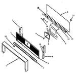 Amana SAK39AA/ALL backguard assembly (gak39da/all) (gal39da/all) (gap39da/all) (gbl39fa/all) (sak39da/all) (sal39da/all) (sap39da/all) (sbl39fa/all) diagram