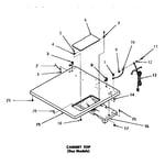 Speed Queen DG6270 cabinet top diagram