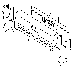 Caloric RLN381UW/P1142962NW backguard assembly (rln367ul/p1142961nl) (rln367uw/p1142961nw) (rln370ul/p1143110nl) (rln370uw/p1143110nw) (rln380uk/p1143111nk) (rln380ul/p1143111nl) (rln380uw/p1143111nw) (rln380uww/p1143111nww) (rln381ul/p1142962nl) (rln381ul/p1143129nl) (rln381uw/p114 diagram