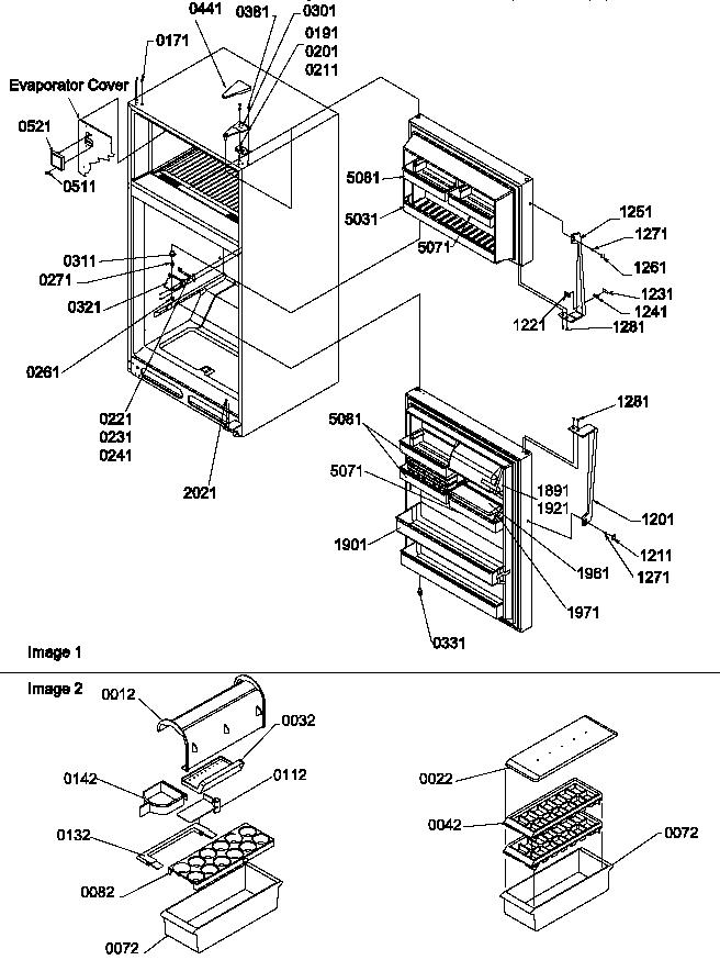 Amana  Top Mount Refrigerator  Door, hinges and accessories