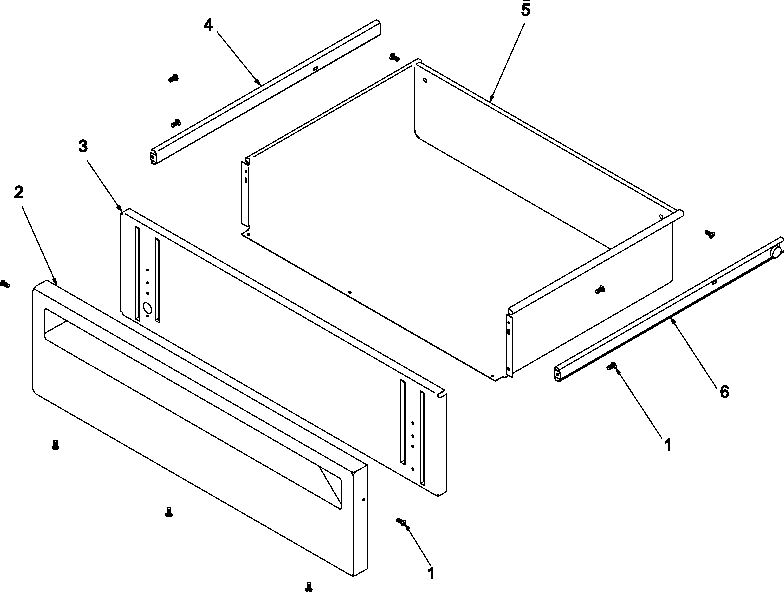 Amana ARTC8600WW/P1143418NWW storage drawer diagram