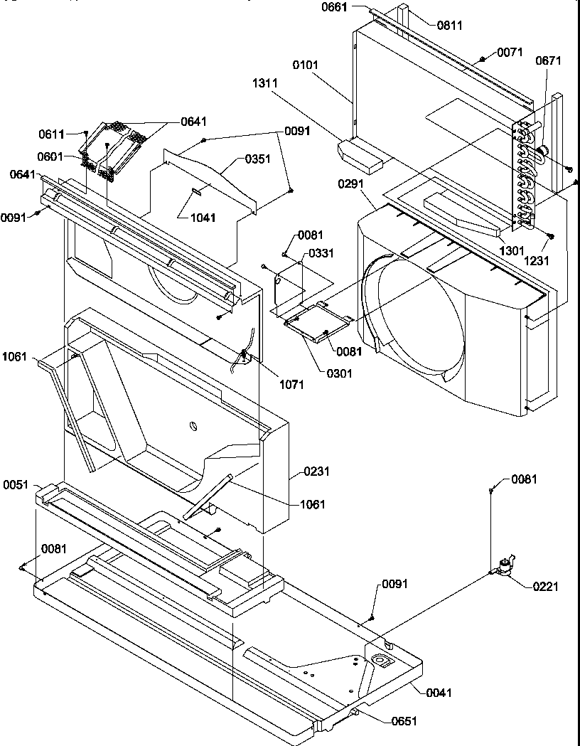 Amana PTH123A25AA/P1202239R chassis diagram