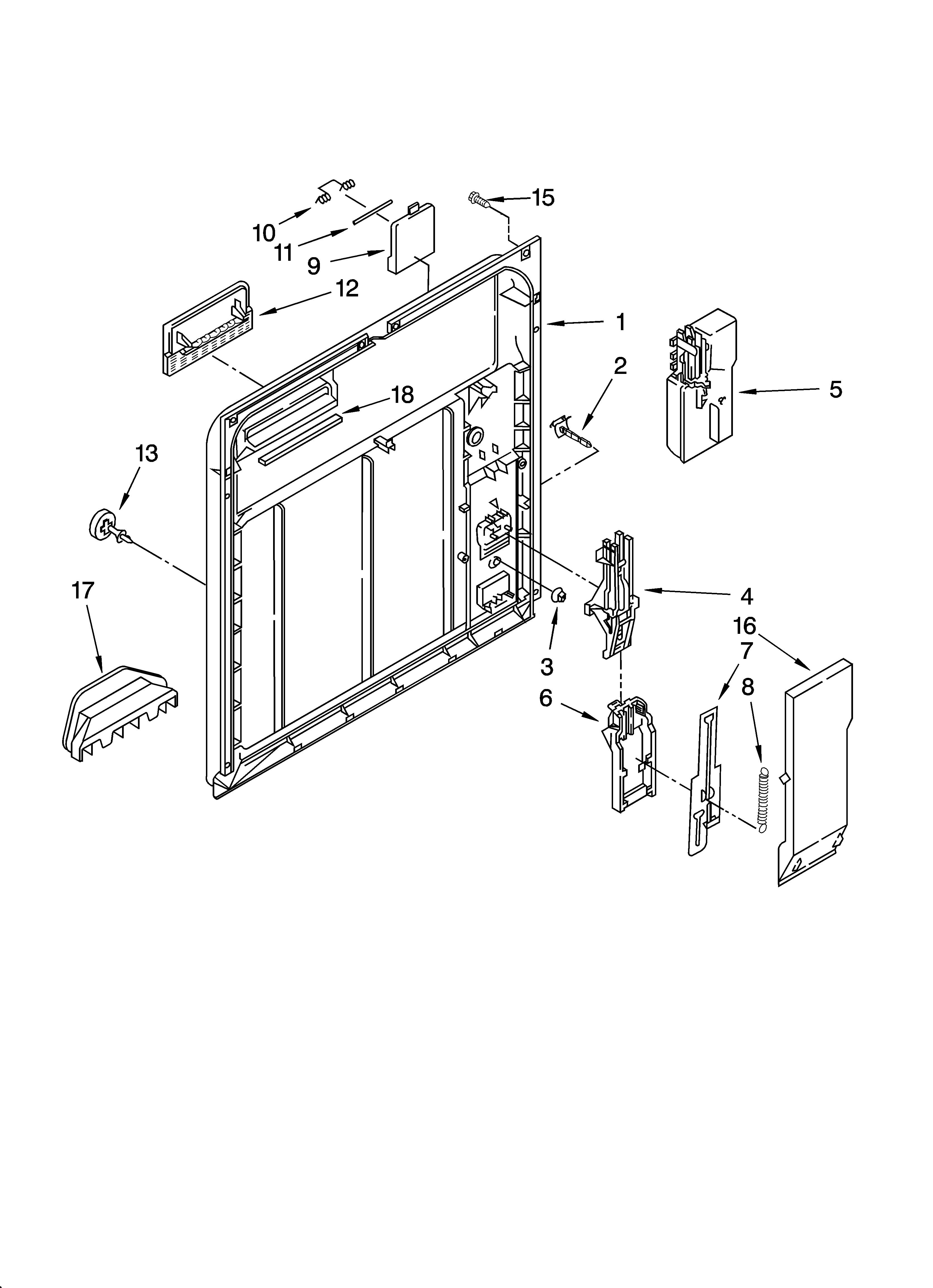 Kenmore Model 66516992400 Dishwasher Genuine Parts Schematic