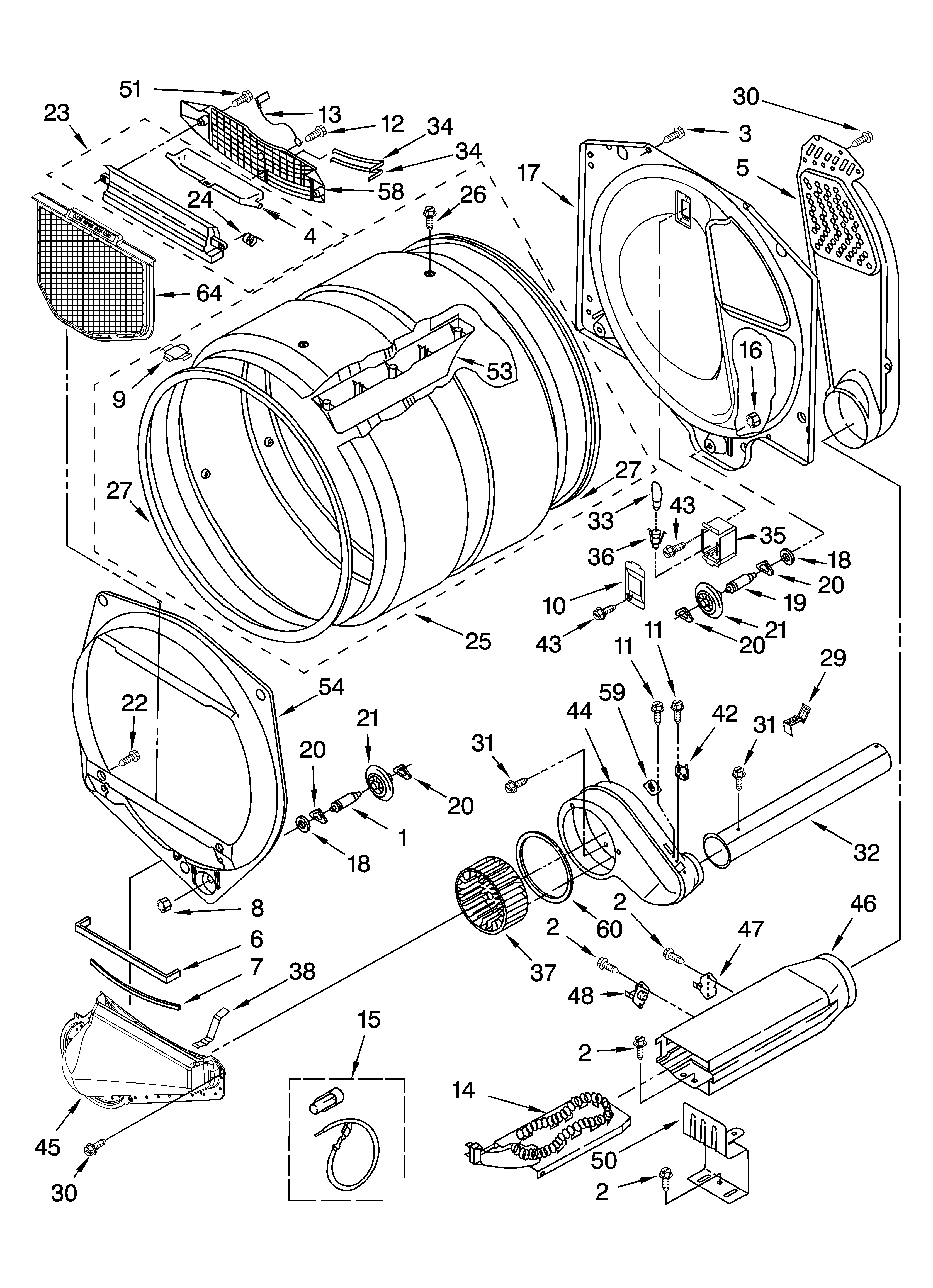 Kenmore 11066926501 bulkhead parts, optional parts (not included) diagram