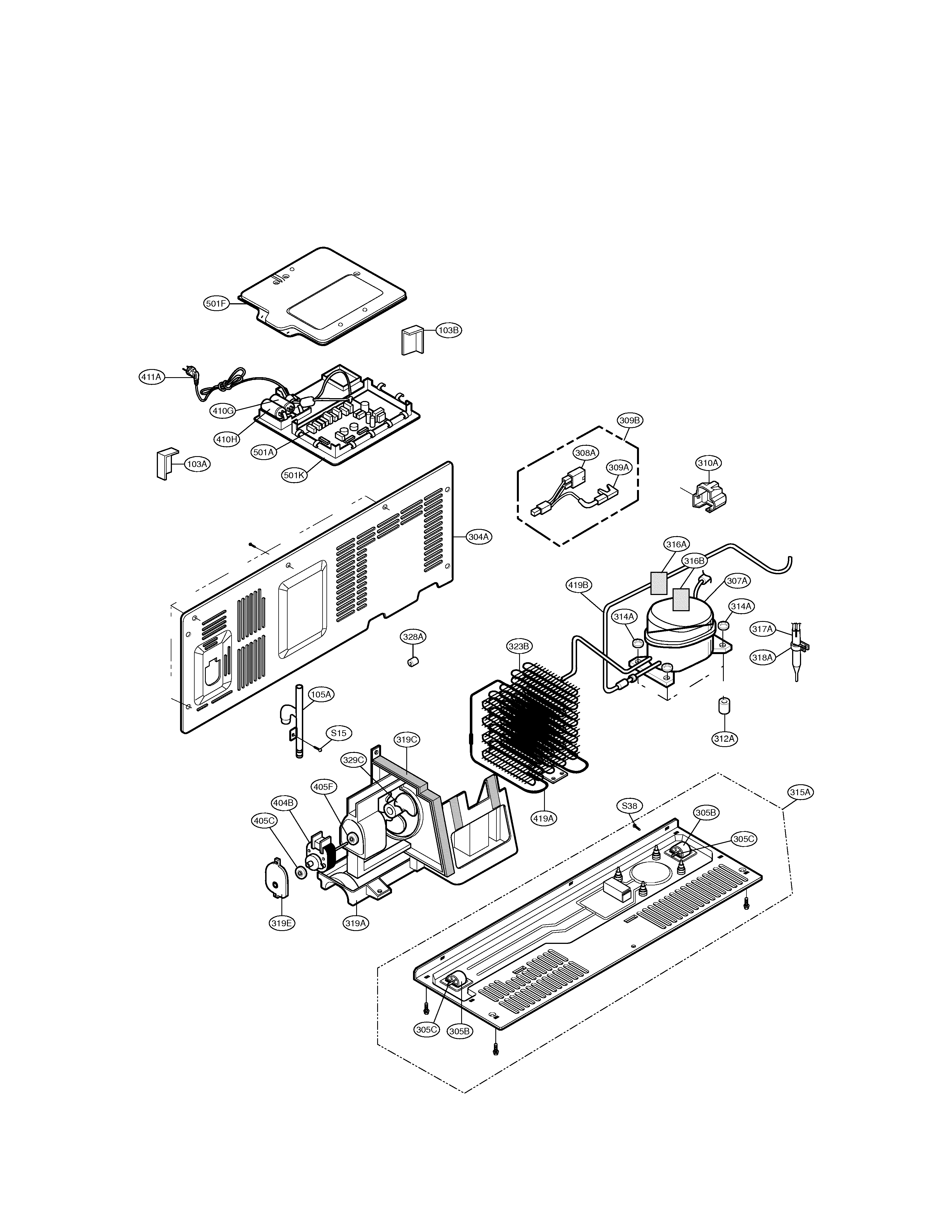 LG LSC27910ST mechanical compartment diagram