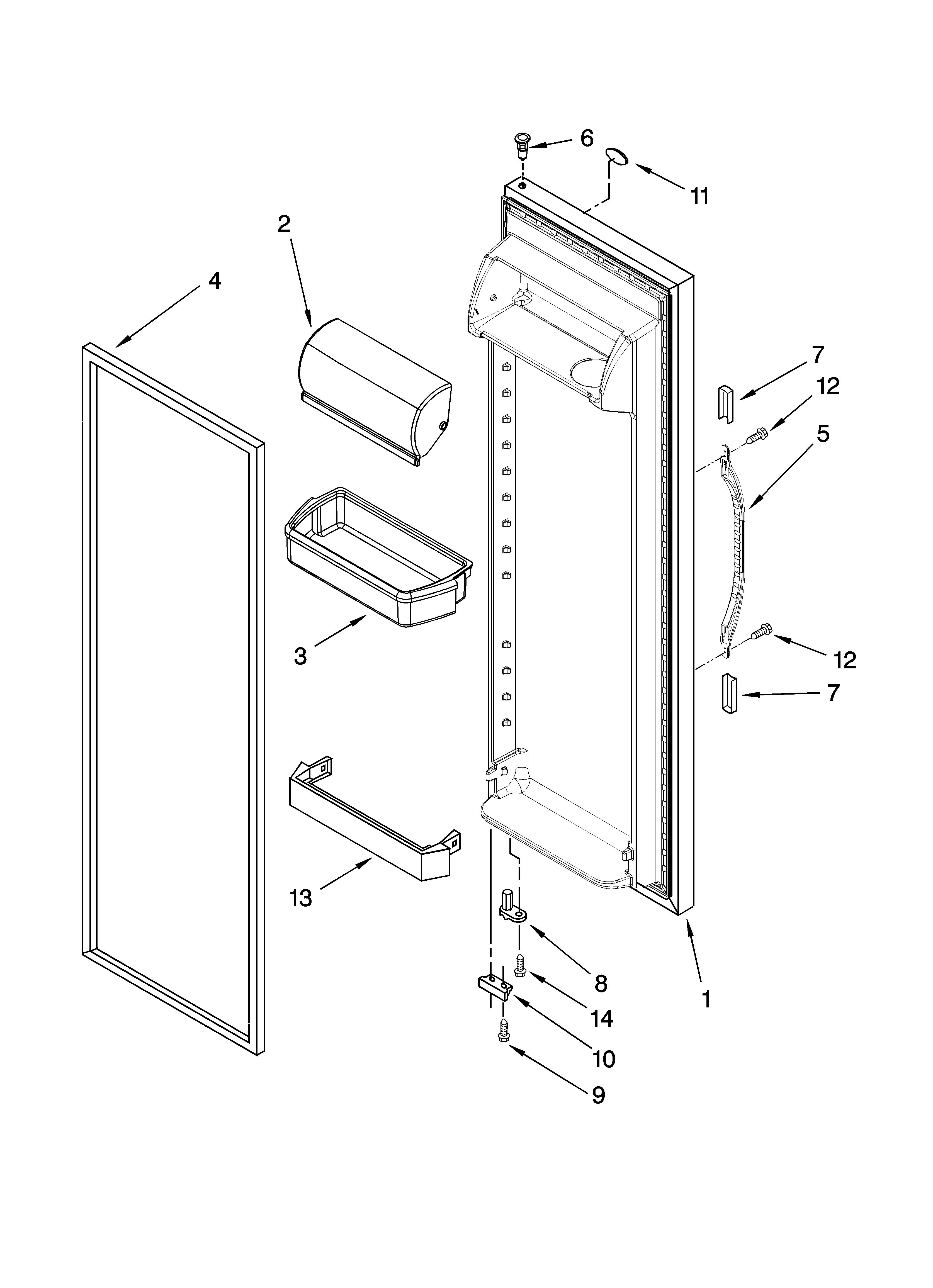 refrigerator door parts diagram & parts list for model ... kenmore 106 refrigerator parts diagram wiring diagram for kenmore elite refrigerator