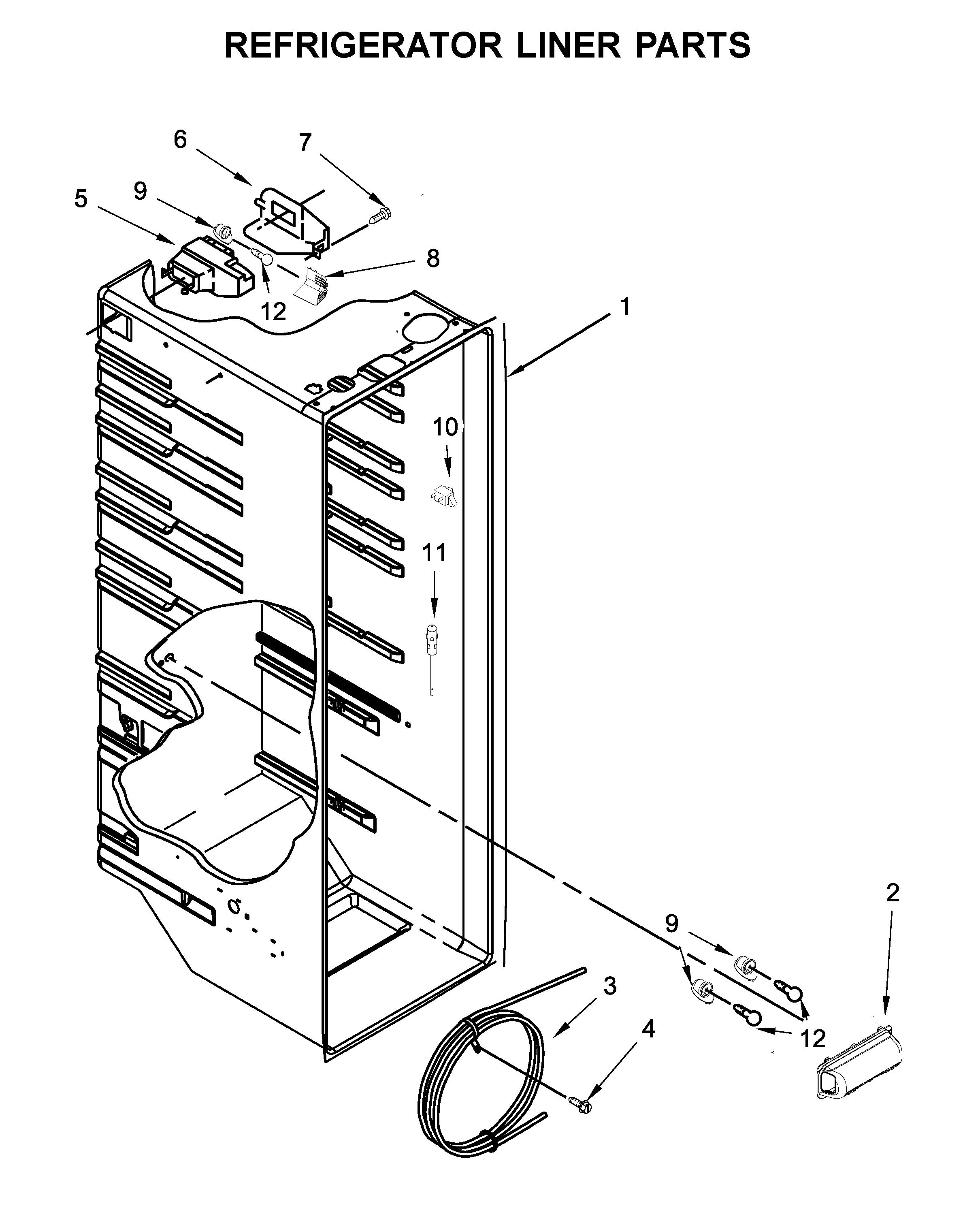 Kenmore  Refrigerator  Refrigerator liner parts
