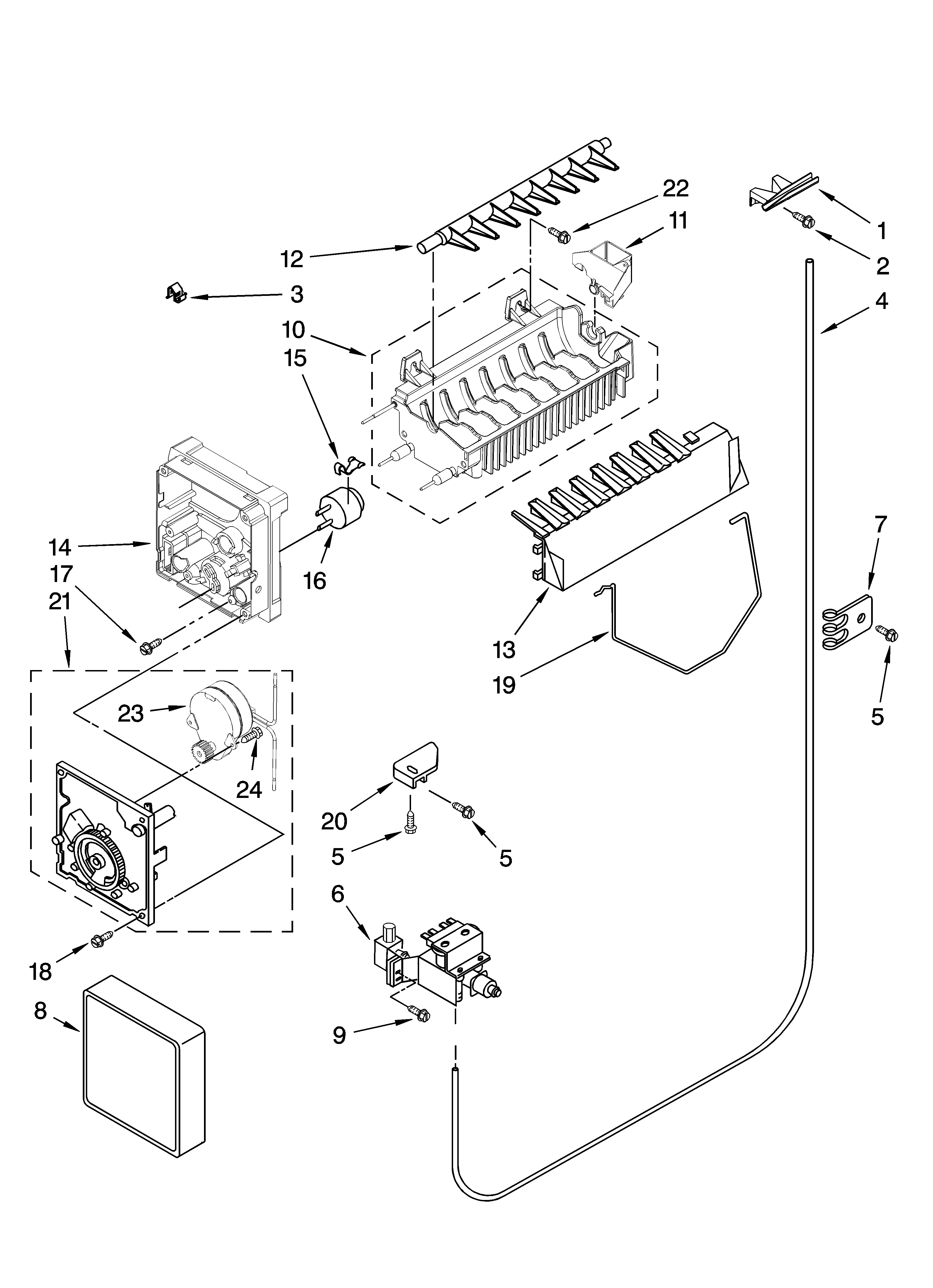 Kenmore 10657982700 icemaker parts, optional parts (not included) diagram