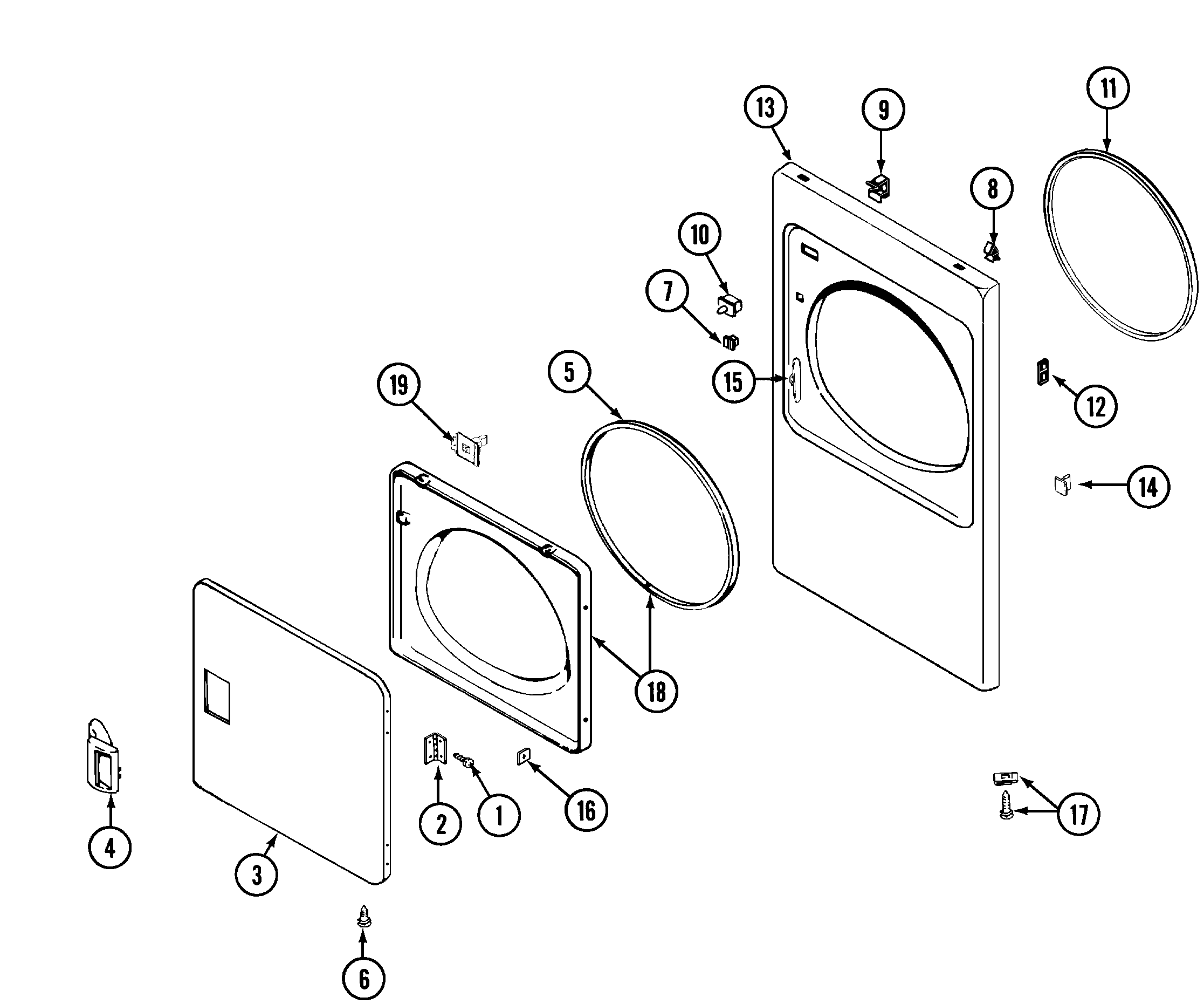Maytag  Residential Dryer  Door