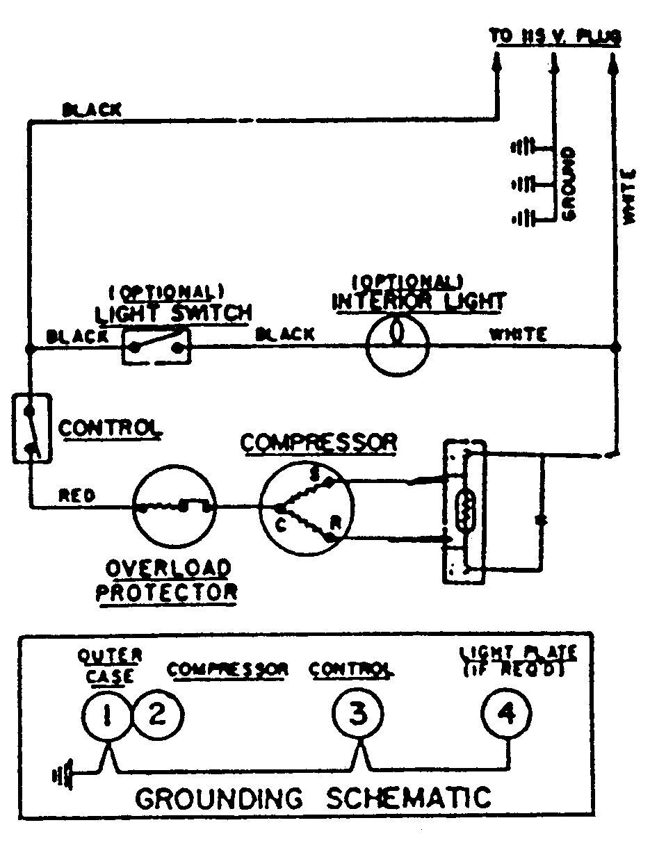 Maytag  Magic Chef Freezer  Wiring information