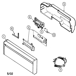 Maytag GDU20J-CN control panel diagram