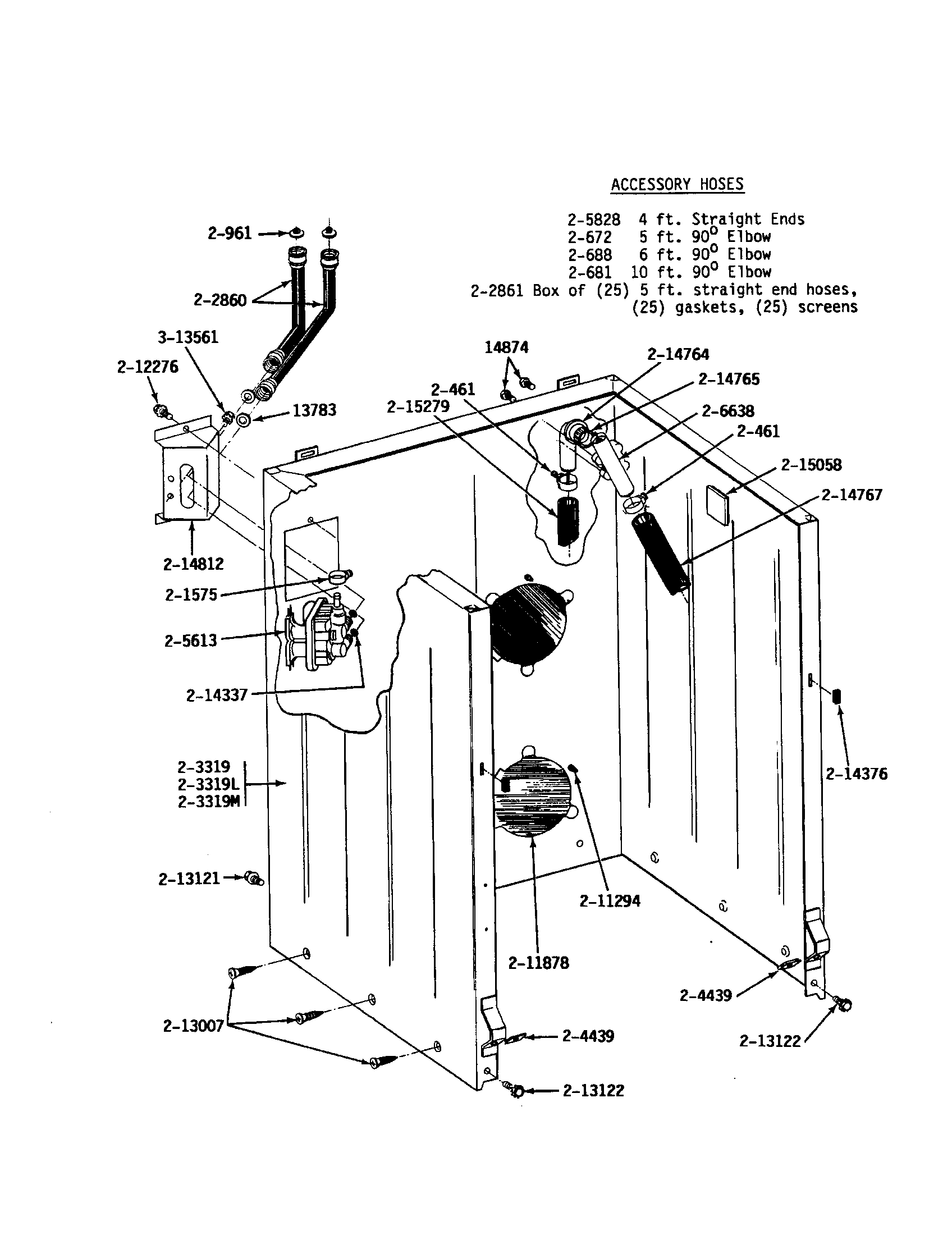 Maytag A512 cabinet/water system diagram