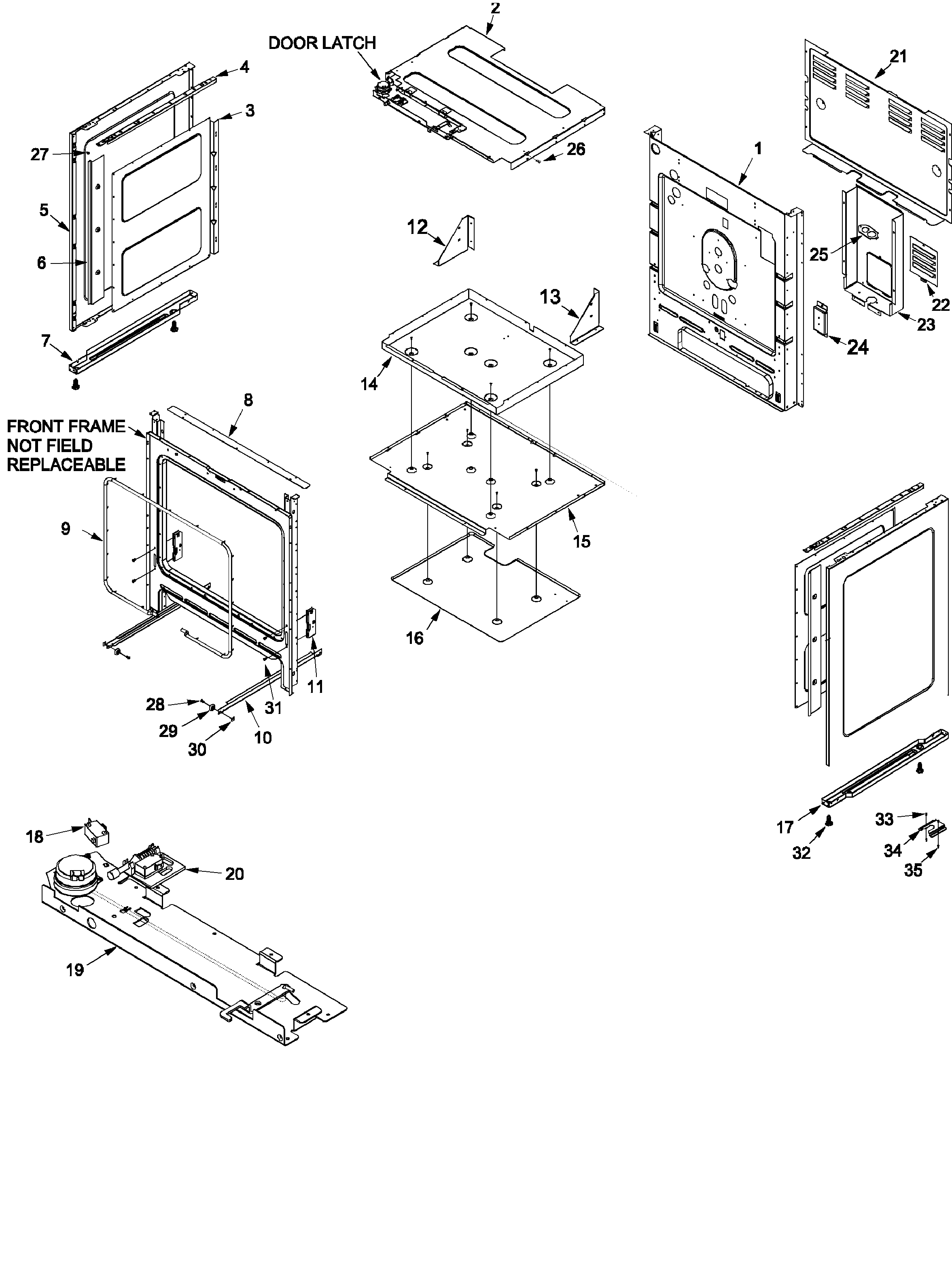 Amana DCF4205AW-PDCF4205 cabinet diagram