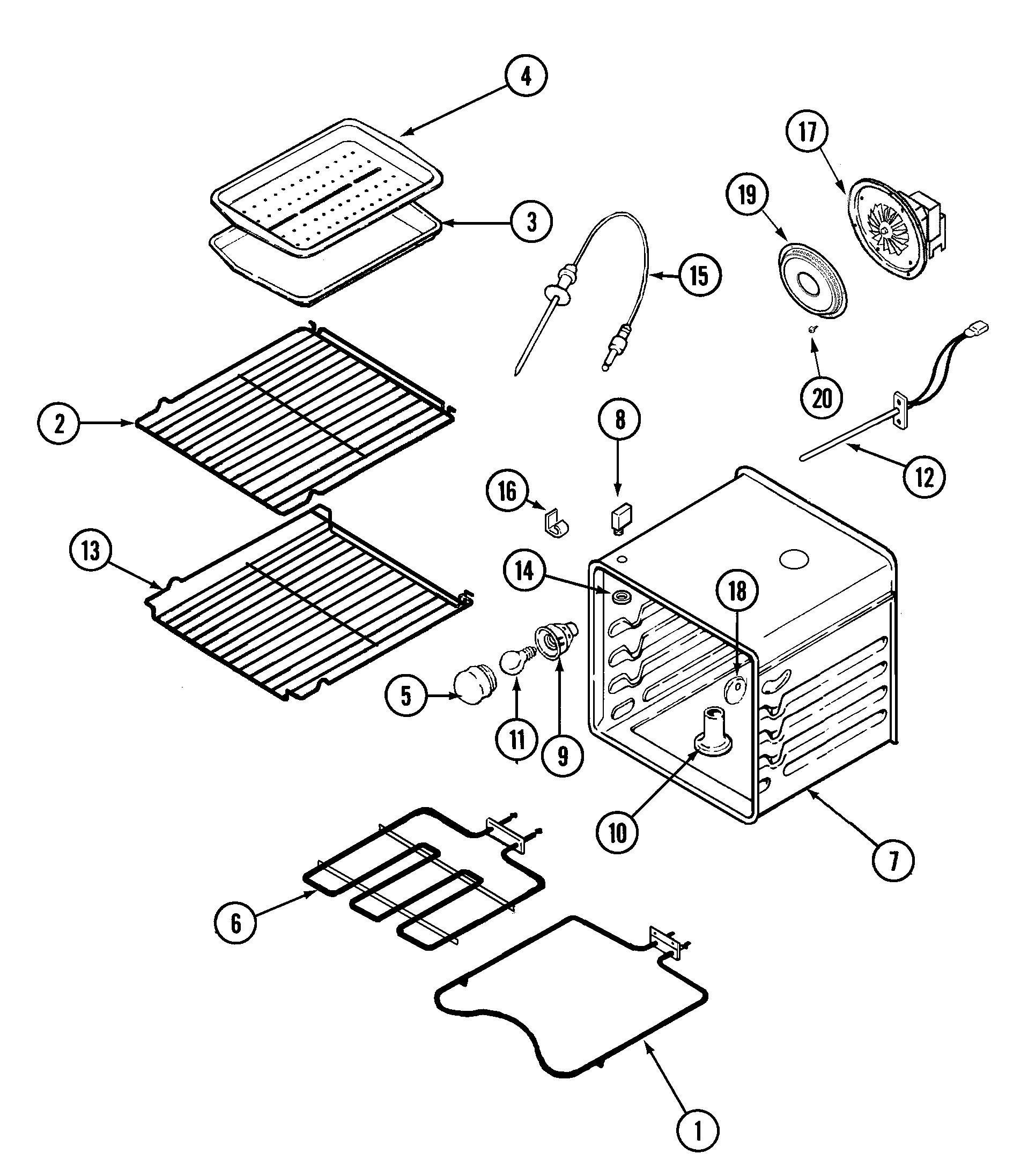 oven diagram  u0026 parts list for model jmw9527cas jenn