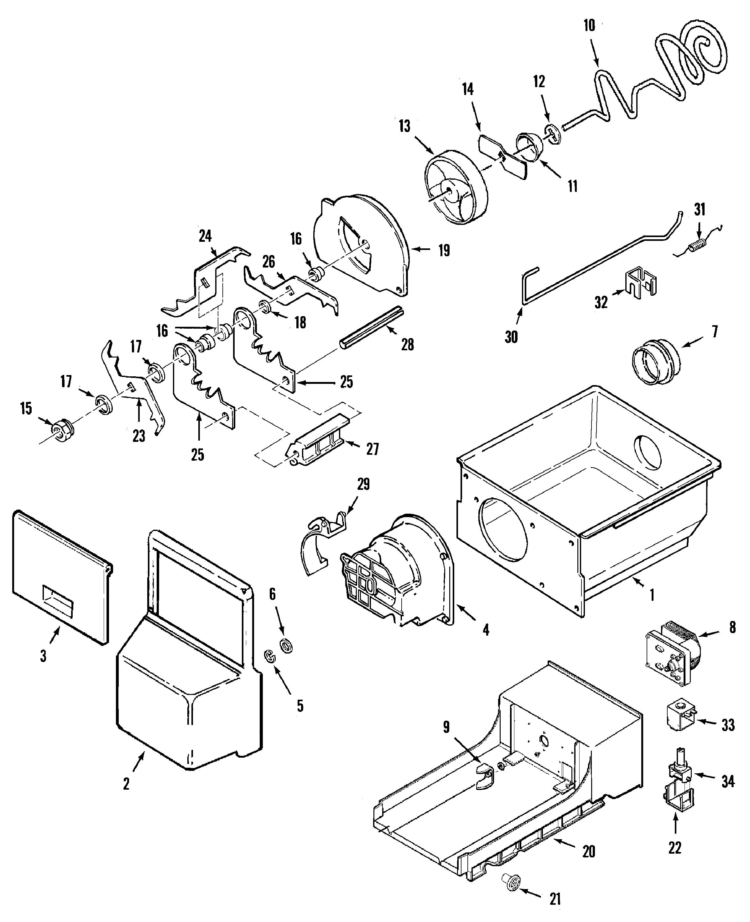 Maytag  Wci Refrigeration  Ice bin (rev 11)