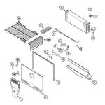 Magic Chef CTB1925GRB freezer compartment diagram
