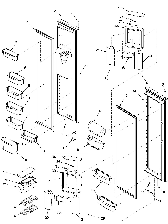 Maytag  Gaggenaue Refrigerator  Ref/fz door and shelf
