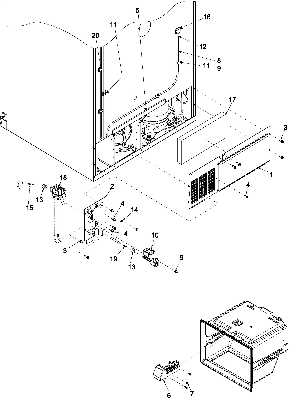 Kenmore Elite  Kenmore Refrigerator  Cabinet back
