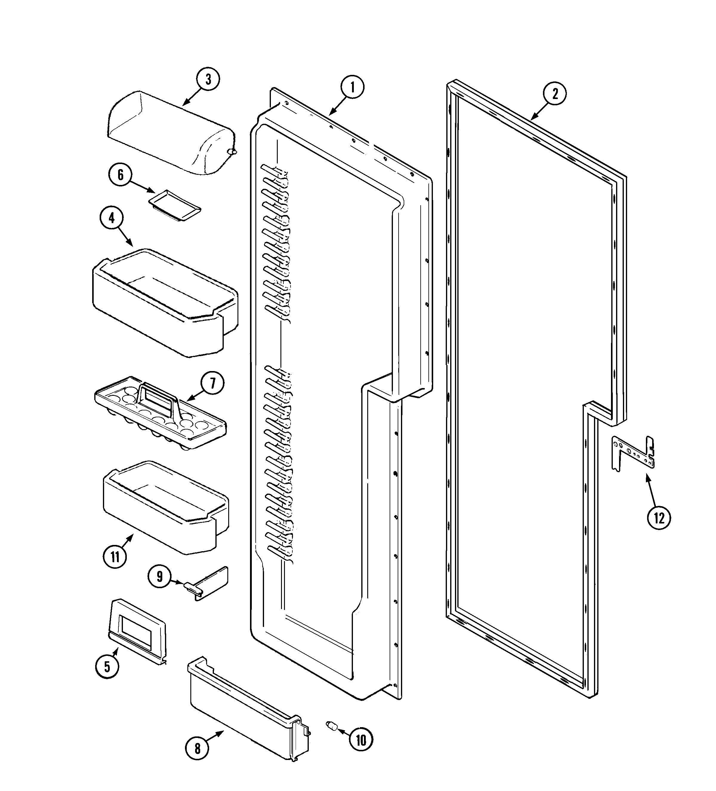 Maytag  Side-By-Side Refrigerator  Fresh food inner door