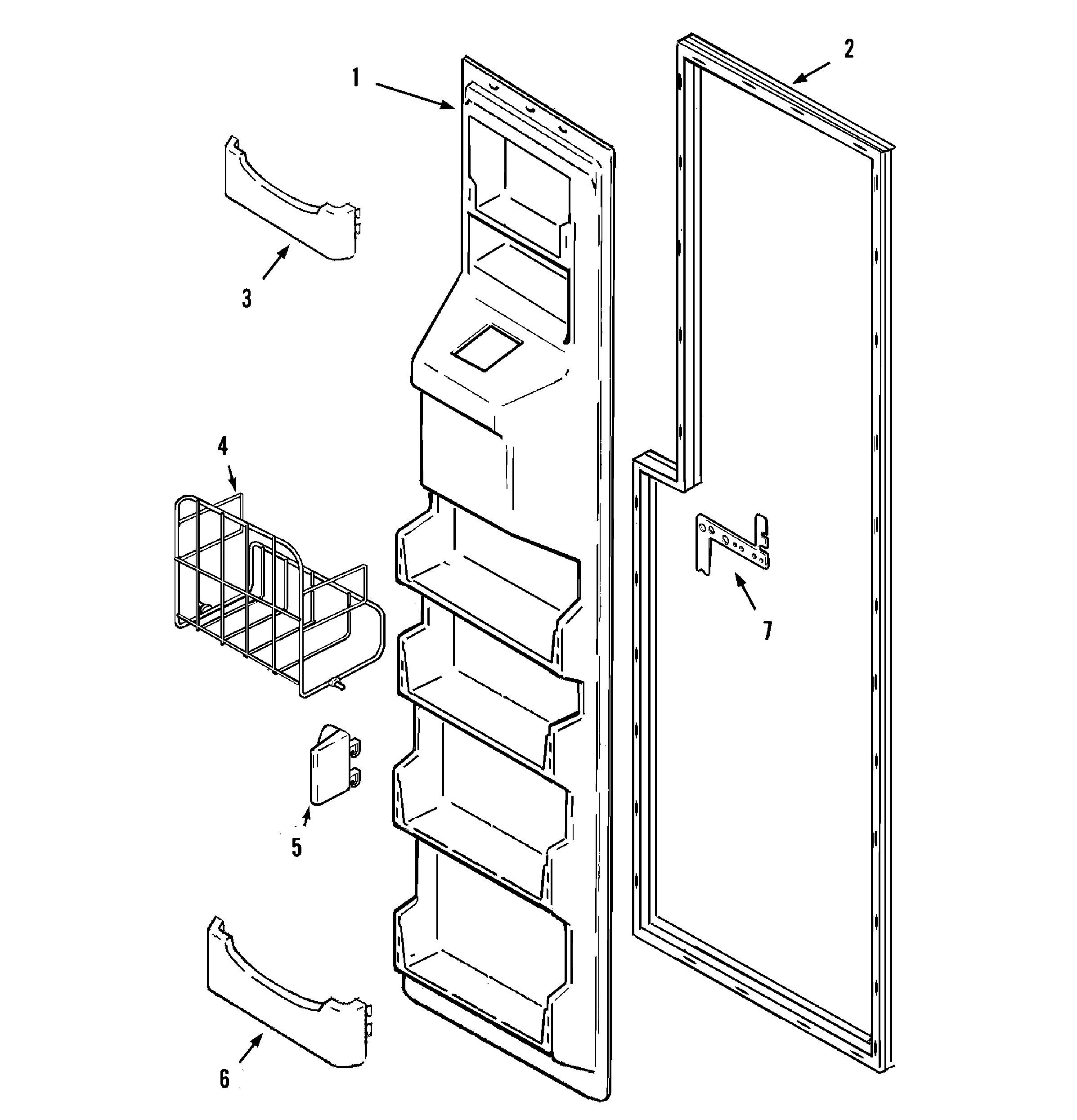Maytag  Side-By-Side Refrigerator  Freezer inner door
