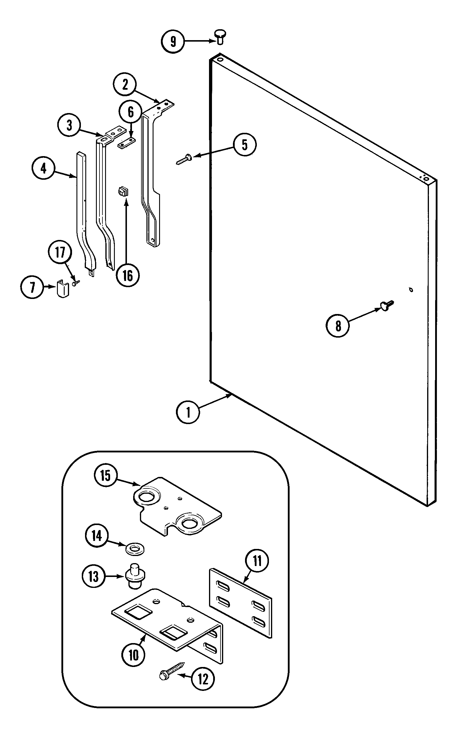 Crosley  Refrigerator  Fresh food outer door