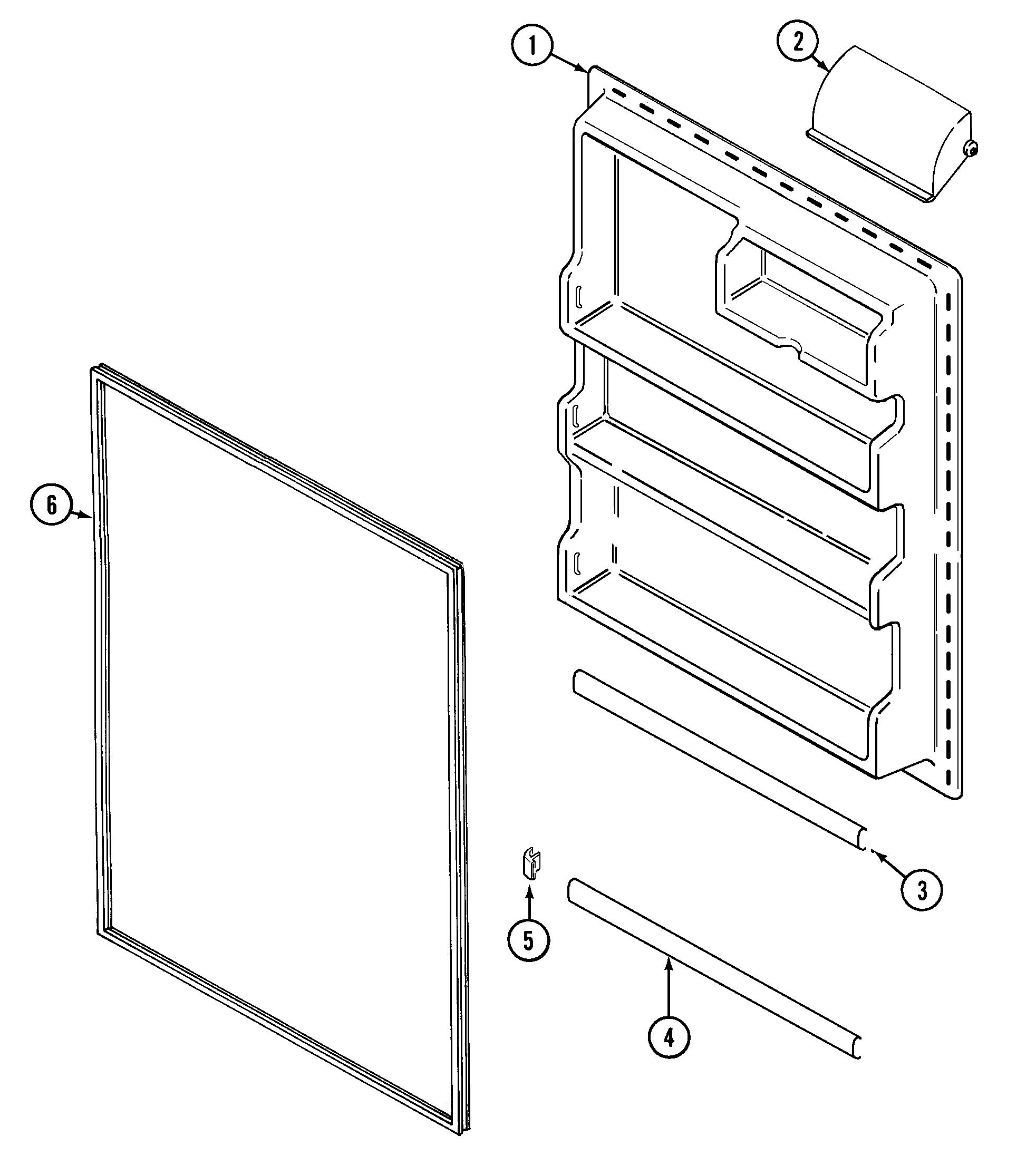 Crosley  Refrigerator  Fresh food inner door