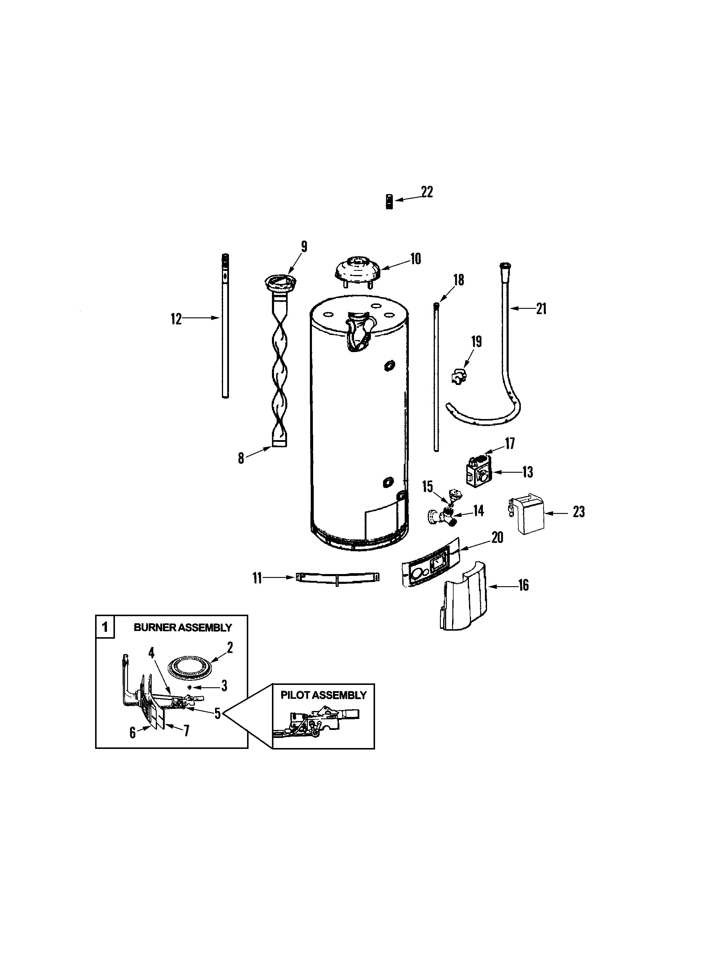 Maytag  Maytag Gas Water Heater  Body