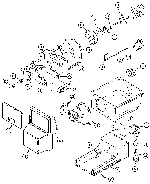 Maytag  Side-By-Side Refrigerator  Ice bin (rev 12)