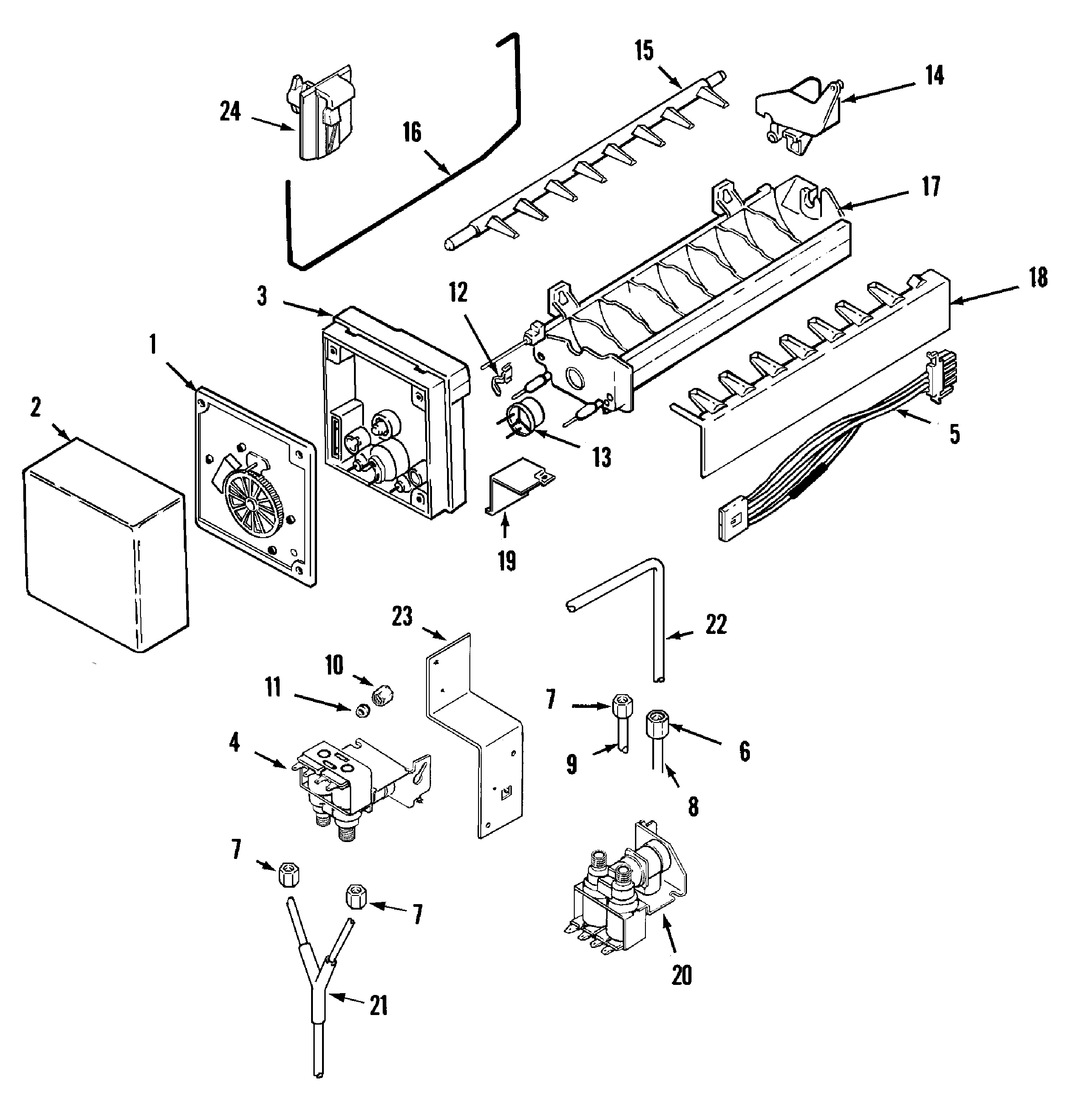 Maytag GC2228EED9 ice maker diagram