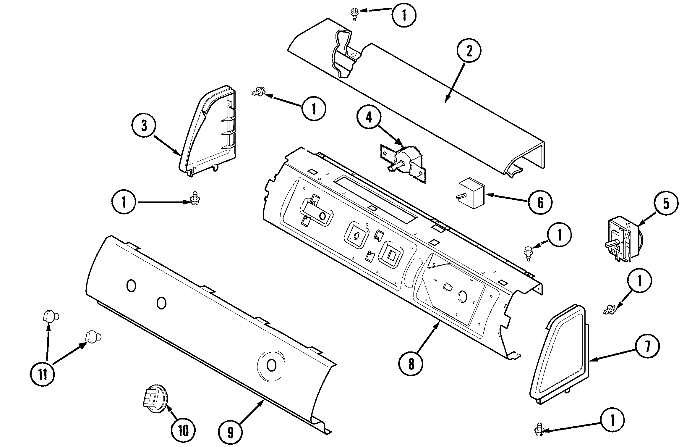 Amana ALE331RCW control panel diagram