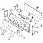 Maytag PYG3360AWW control panel diagram
