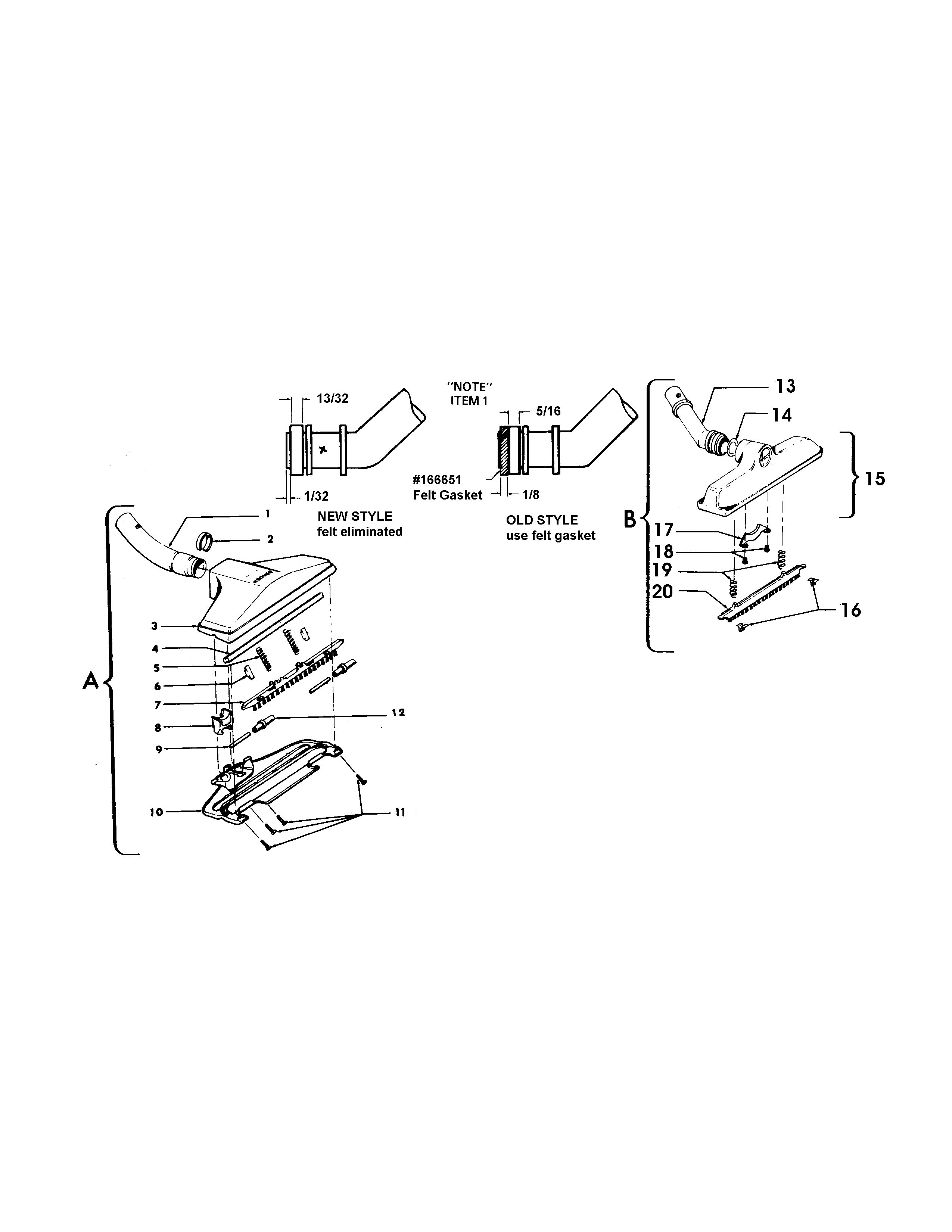 Hoover S3261--- cleaningtools diagram
