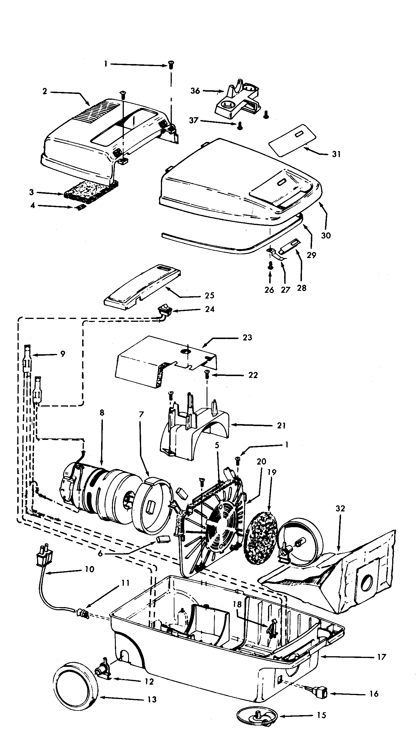 Hoover S3261--- mainhousing diagram